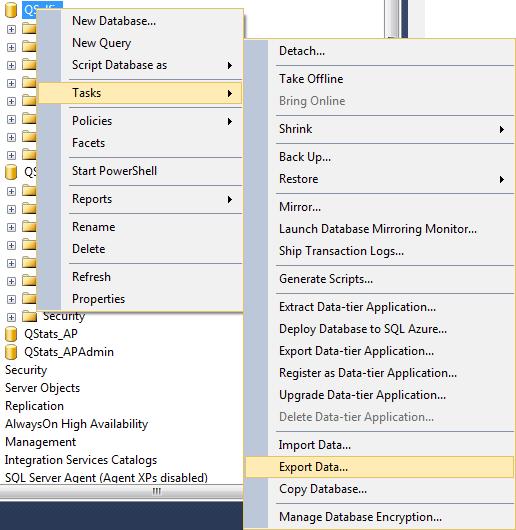 Tasks-ExportData