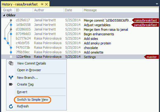 Visual Studio 2015 improves GIT support